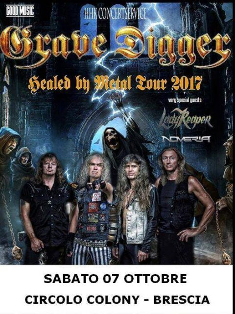 Grave Digger - Lady Reaper - Noveria - Circolo Colony - Healed By Metal Tour 2017 - Promo
