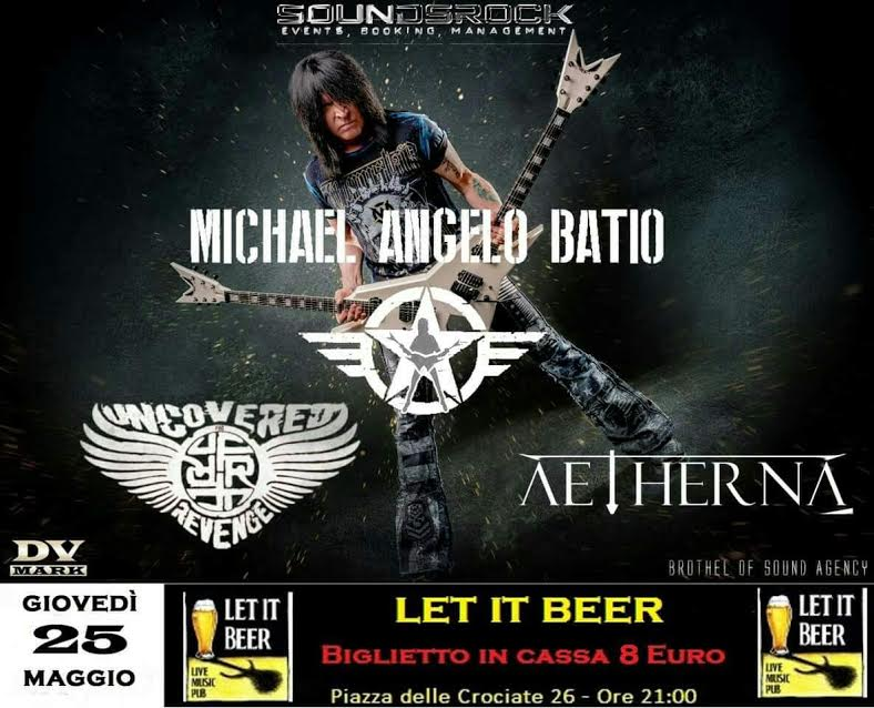 Michael Angelo Batio - Uncovered For Revenge - Aetherna - Let It Beer - Tour 2017 - Promo