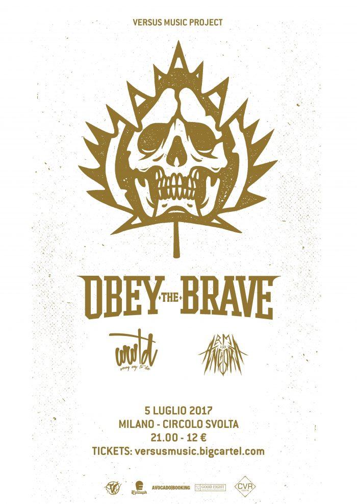 Obey The Brave - Circolo La Svolta - Tour 2017 - Promo