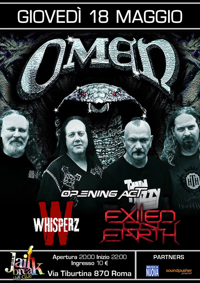 Omen a Roma @ Jailbreak con Exiled On Earth e Wisperz - 18 05 2017