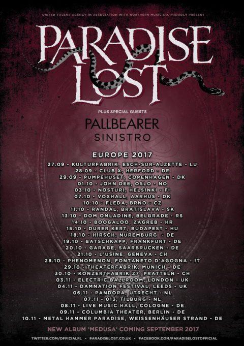 Paradise Lost - Pallbearer - Sinistro - Europe Tour 2017 - Promo