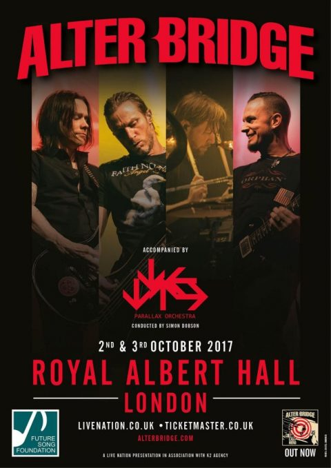 Alter Bridge - Royal Albert Hall - Tour 2017 - Promo