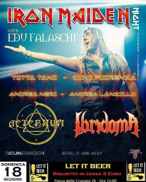Edu Falaschi - Aeternum - Ibridoma - Iron Maiden Tribute Night - Let It Beer 2017 - Promo