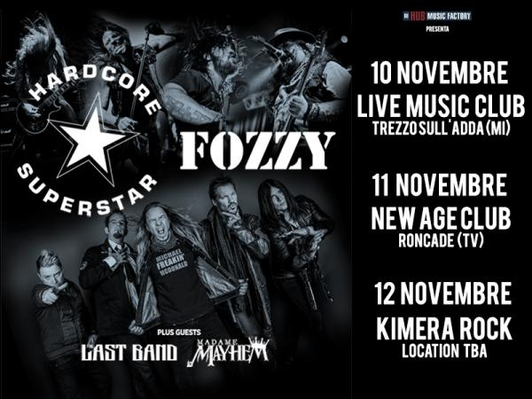 Hardcore Superstar e Fozzy in Italia - European Tou 2017 - Promo
