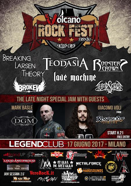 Volcano Rock Fest 2nd Edition - Legend Club 2017 - Promo