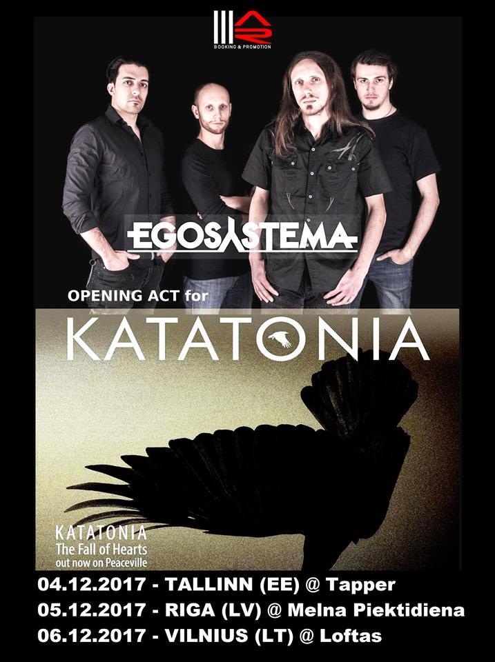 Egosystema in Italia con i Katatonia - Tour 2017 Promo