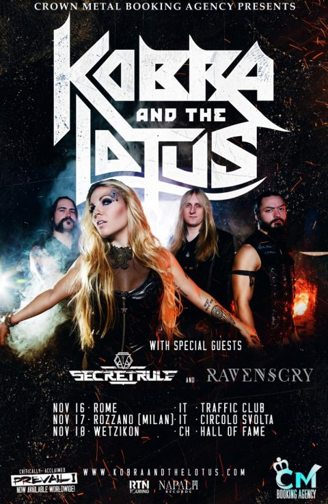 Kobra And The Lotus - Secret Rule - Ravenscry - Tour 2017 - Promo