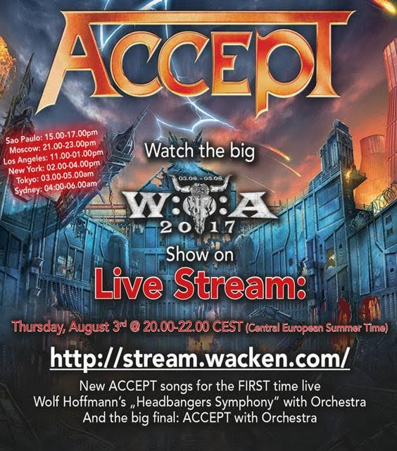 Accept - Live Stream - Wacken Open Air 2017 - Promo