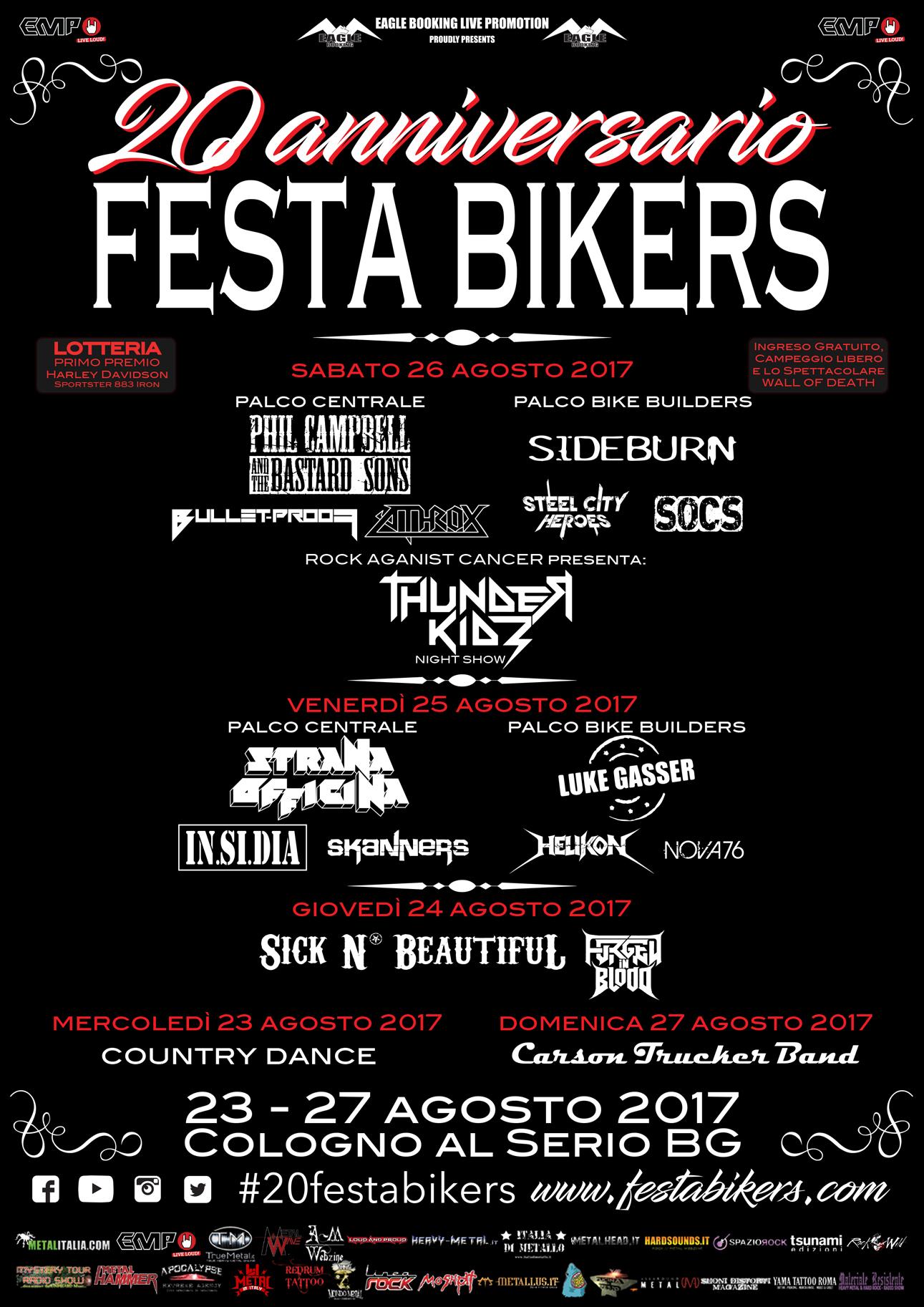 Festa Bikers - 20 Anniversario 2017 - Promo
