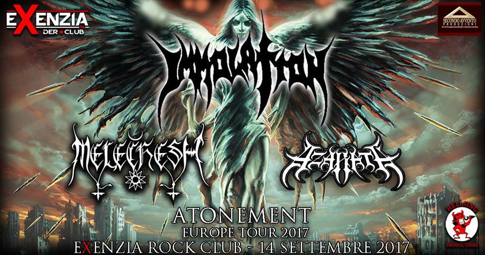 Immolation - Melechesh - Azarath - Circolo Colony - Atonement Europe Tour 2017 - Promo