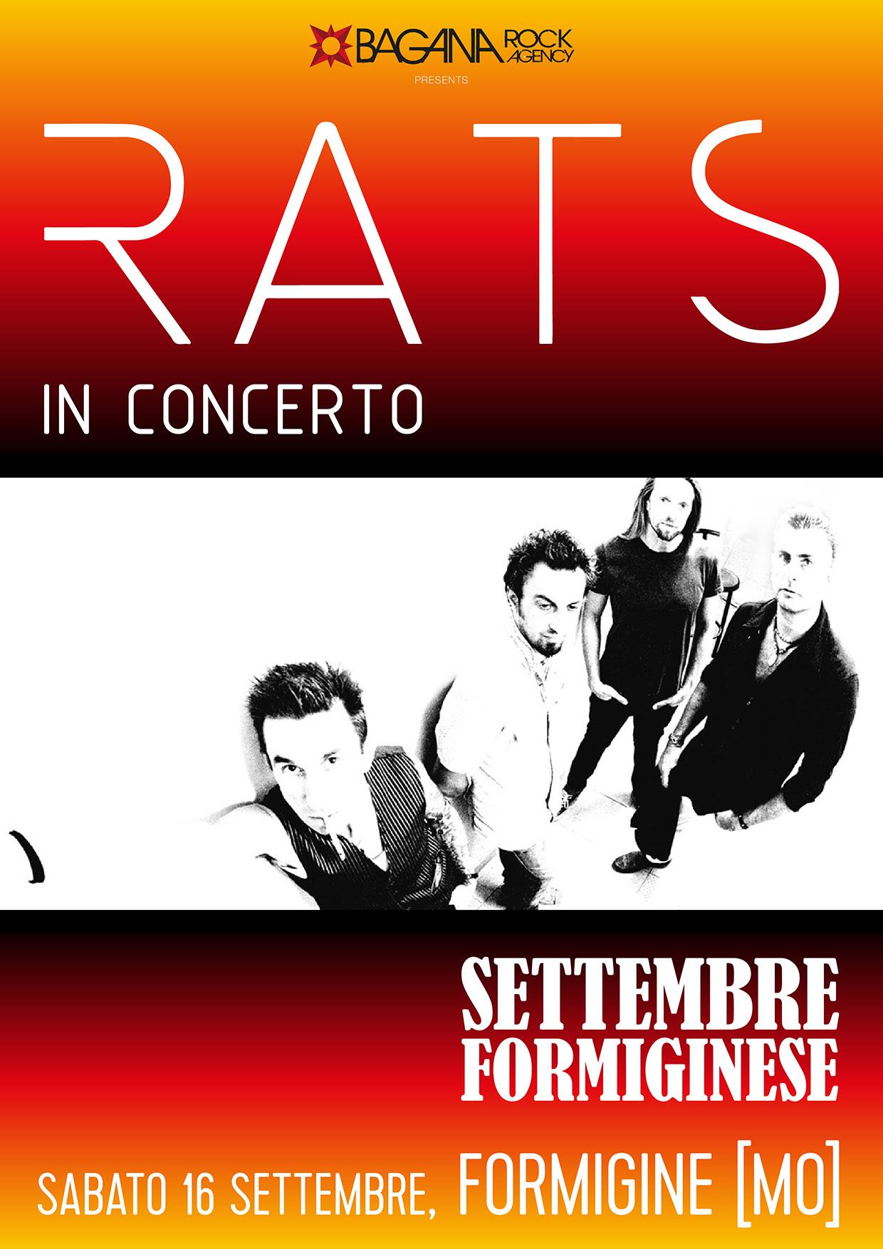 Rats a Modena - Settembre Formiginese - Tour 2017 - Promo