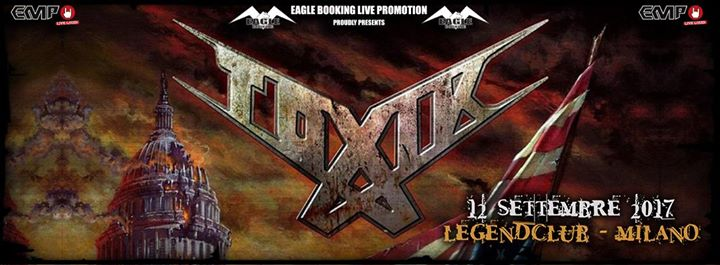 Toxik a Milano @ Legend Club - Tour 2017 - Promo
