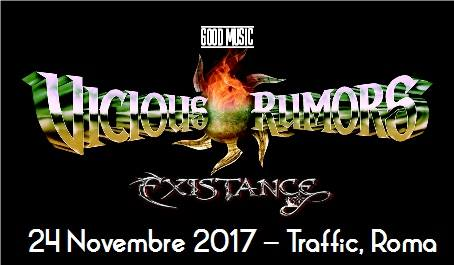 Vicious Rumors - Existance Traffic Live - Tour 2017 - Promo