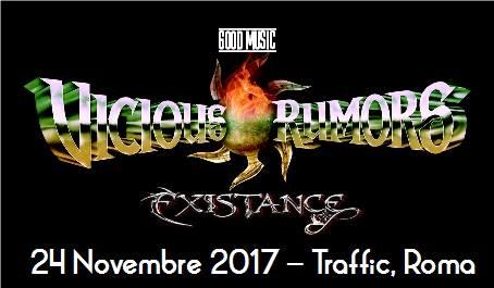 Vicious Rumors - Existance Traffic Live - Tour 2017 - Promo