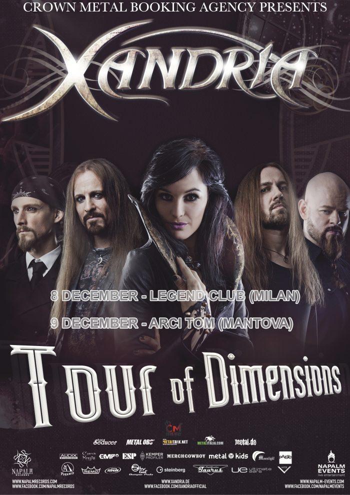 Xandria - Tour Of Dimensions 2017 - Promo