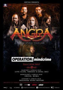 Angra + Geoff Tate - 3 date in Italia
