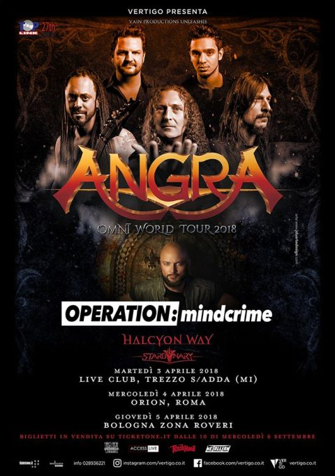 Angra Geoff Tate Operation Mindcrime - Halcyon Way - Omni World Tour 2018 - Promo