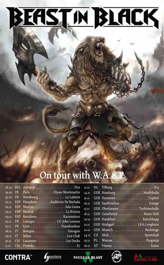 Beast In Black - WASP - Europe Tour 2017 - Promo