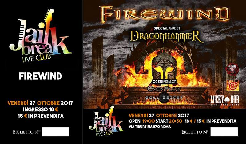 Firewind - Dragonhammer - Evenflow - Soul Secret - Jailbreak Live Club - Tour 2017 - Promo
