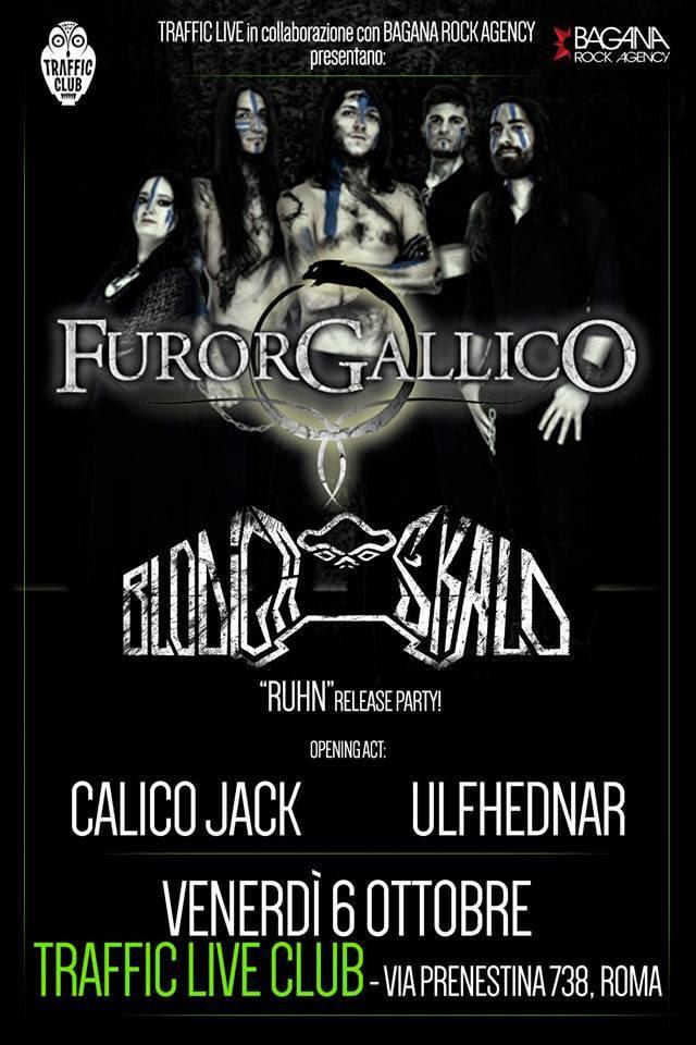 Furor Gallico a Roma + Blodiga Skald + Calico Jack + Ulfhednar @ Traffic Live Club 2017 - Promo
