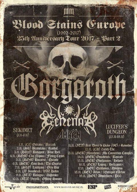 Gorgoroth - Gehenna - Amken - Sekhemet - Lucifer's Dungeon - Blood Stains Europe 2017 - Promo
