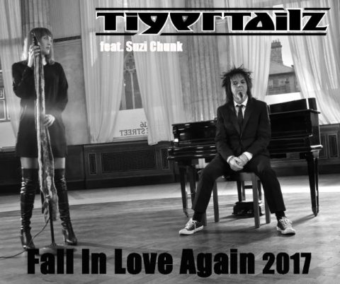 Tigertailz - Fall In Love Again 2017 - Single Cover
