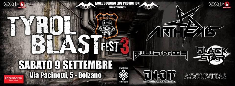 Tyrol Blast Fest III - Arthemis- Bulletproof - Black Star - 2017 - Promo