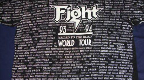 """14 Settembre 1993 - esce """"War of Words"""" dei Fight"""