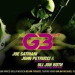 G3 - Joe Satriani - John Petrucci - Uli Jon Roth - Tour 2018 - Promo