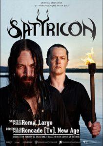 Satyricon - 2 date a marzo 2018