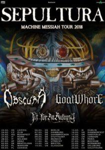 Sepultura + guests - 2 date in Italia 2018