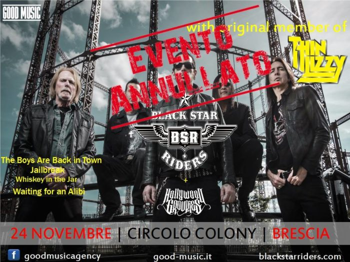 Black Star Riders - Circolo Colony - Concerto Annullato