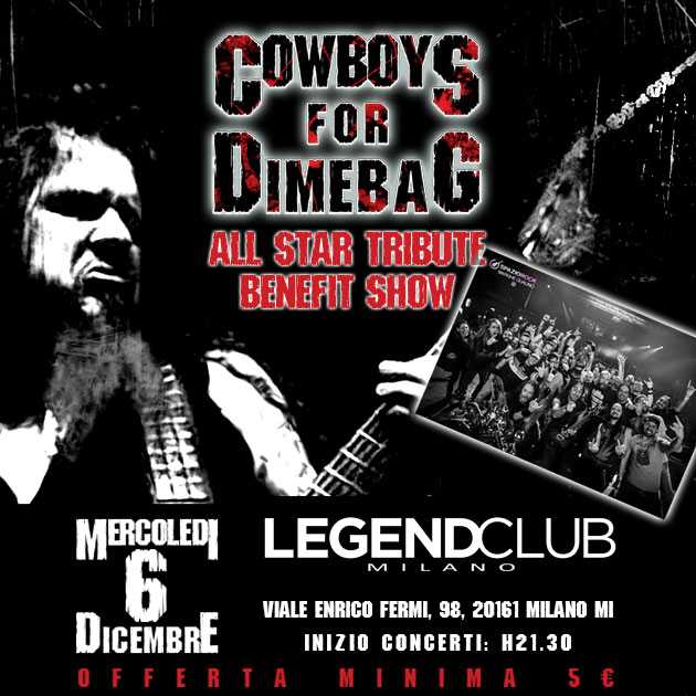 Cowboys For Dimebag @ Legend - 06 12 2017
