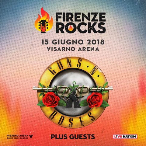 Guns N Roses - Firenze Rocks - Tour 2018 - Promo