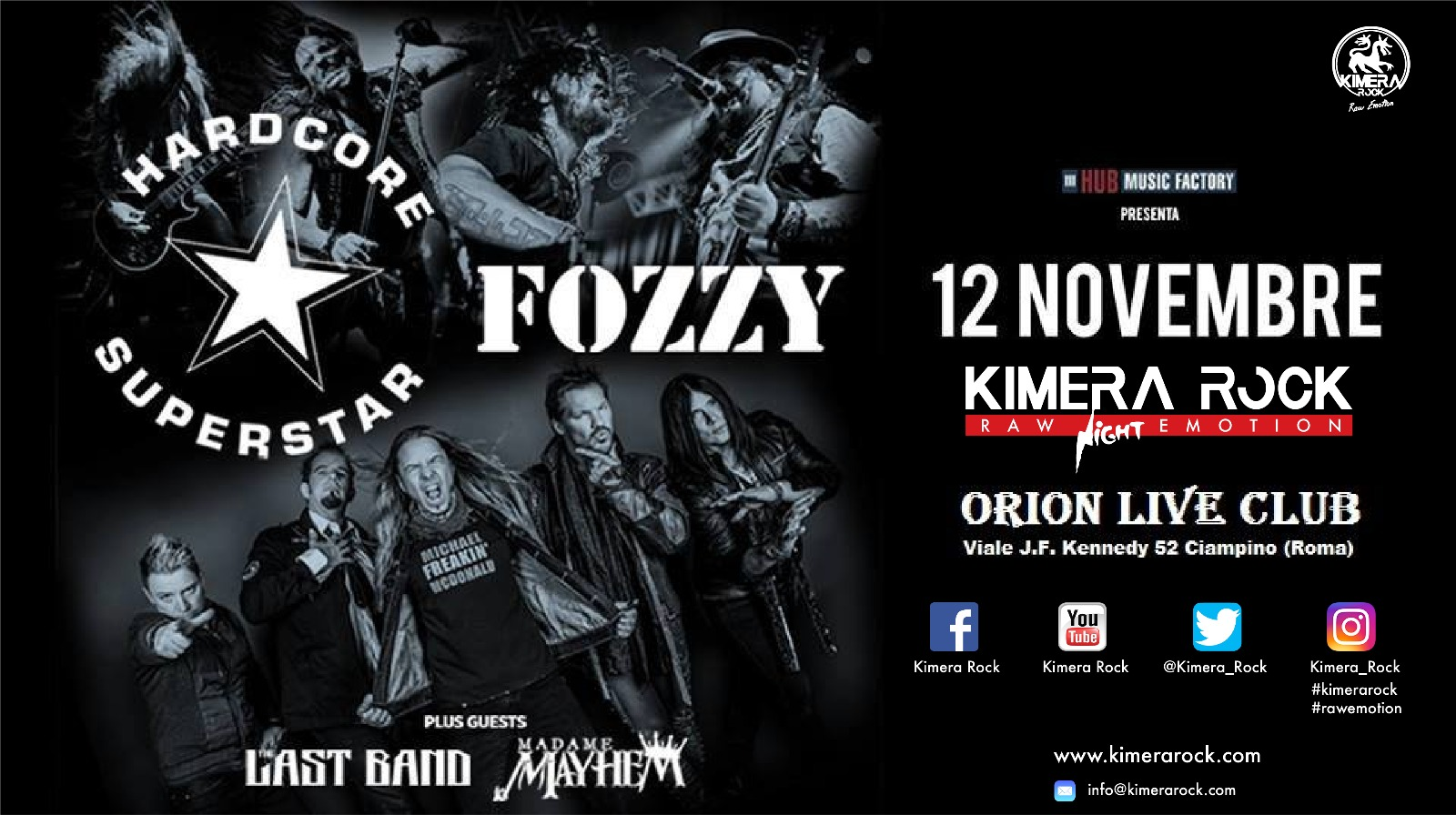 Hardcore Superstar - Fozzy - Orion Live Club - Tour 2017 - Promo