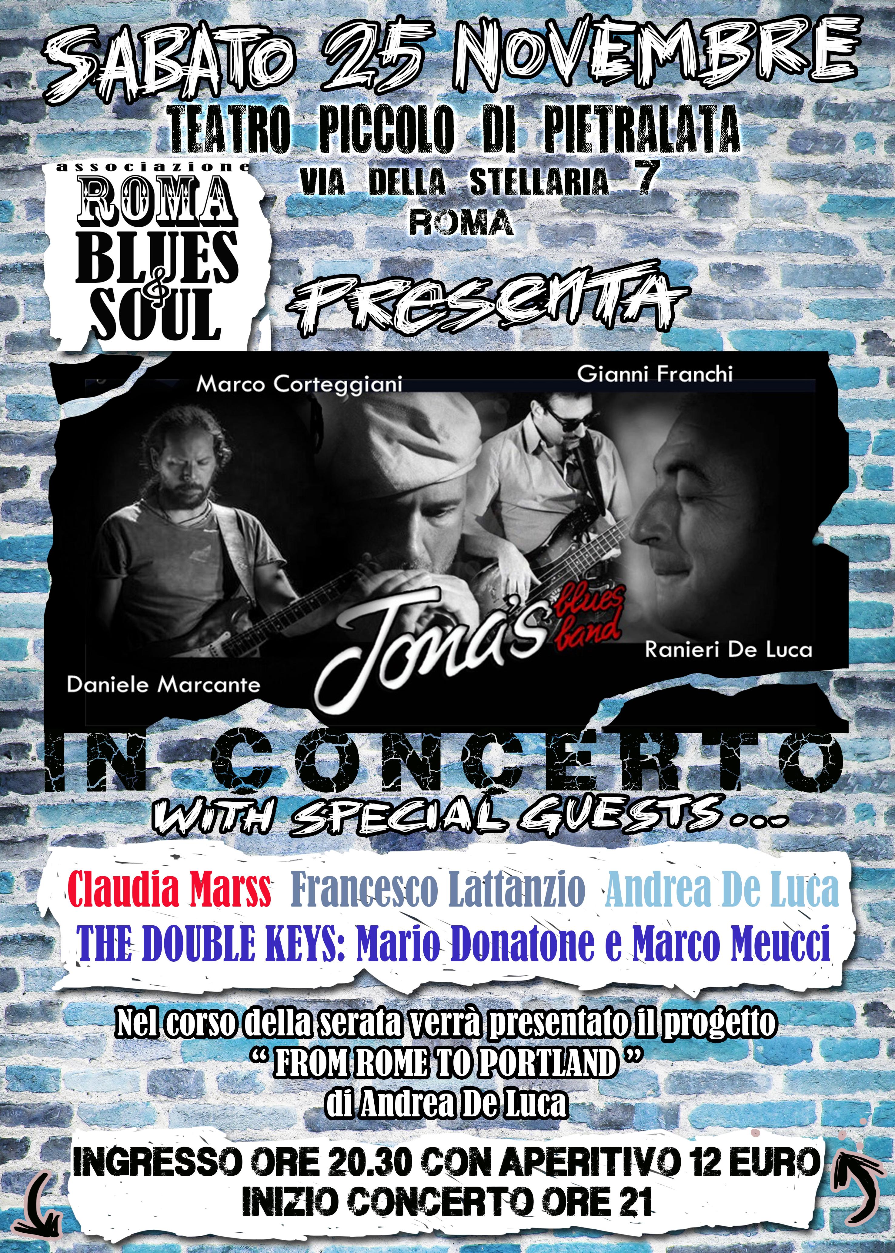 Jona' s Blues Band - Teatro Piccolo Di Pietralata - Tour 2017 - Promo