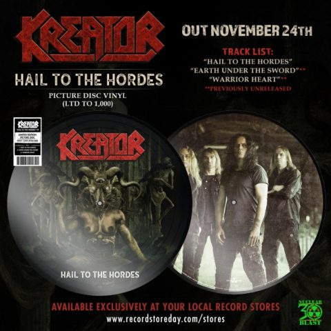 Kreator - Hail To The Hordes - Single Cover