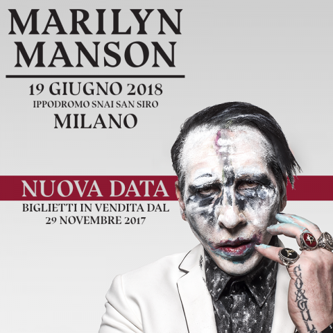 Marilyn Manson - Ippodromo Snai San Siro - Tour 2018 - Promo