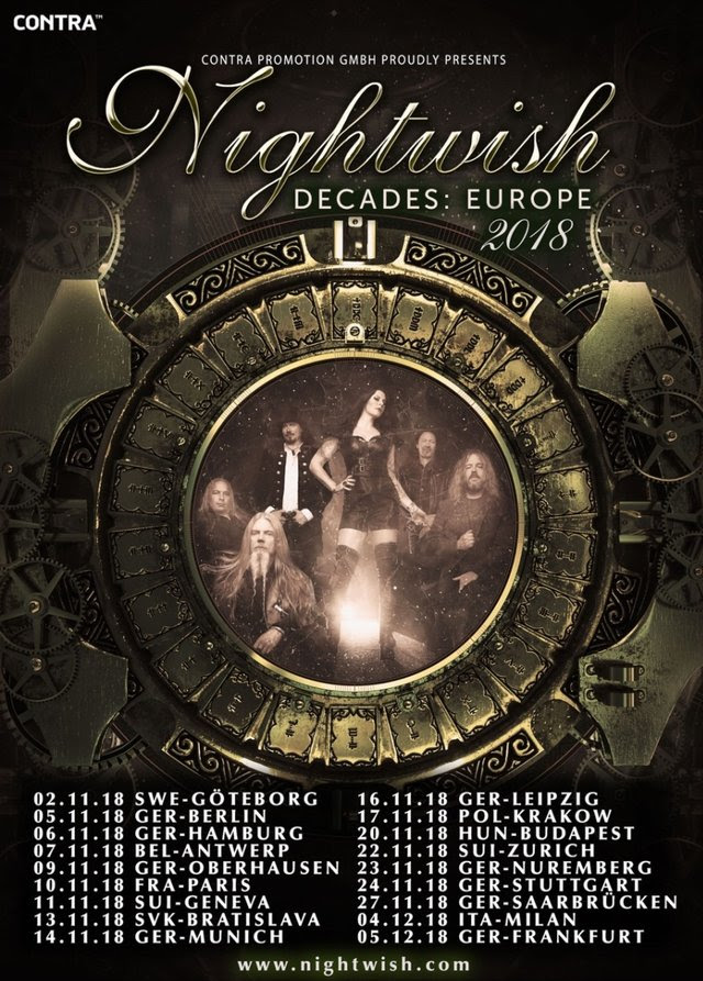 Nightwish - Decades Europe Tour 2018 - Promo