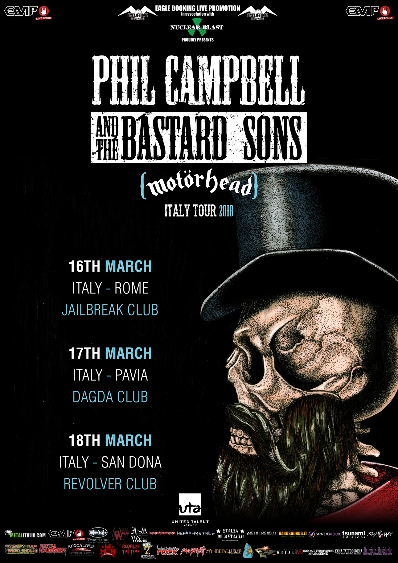Phil Campbell And The Bastard Sons - Italy Tour 2018 - Promo