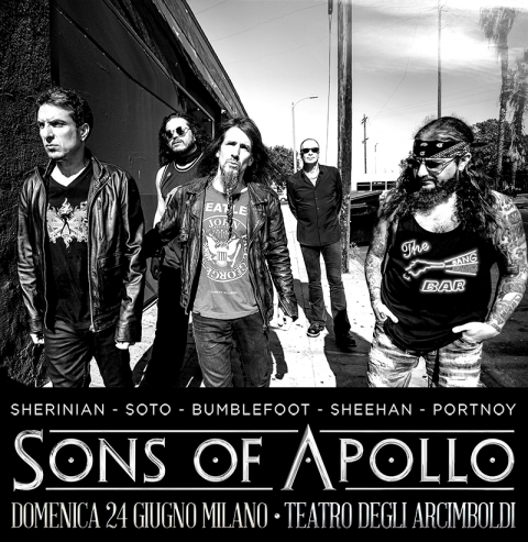 Sons Of Apollo - Teatro Degli Arcimboldi - Tour 2018 - Promo