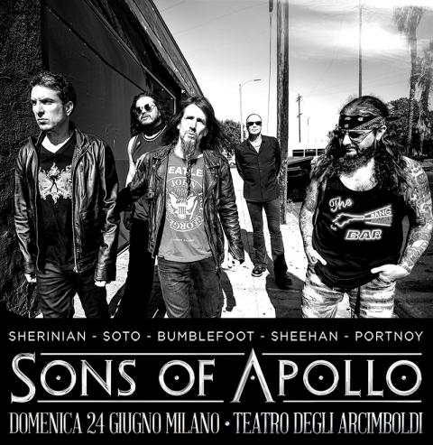 Sons Of Apollo - Teatro Degli Arcimboldi - Tour 2018 - Promo