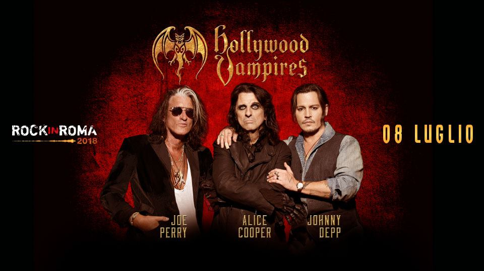The Hollywood Vampires - Rock In Roma - tour 2018 - Promo