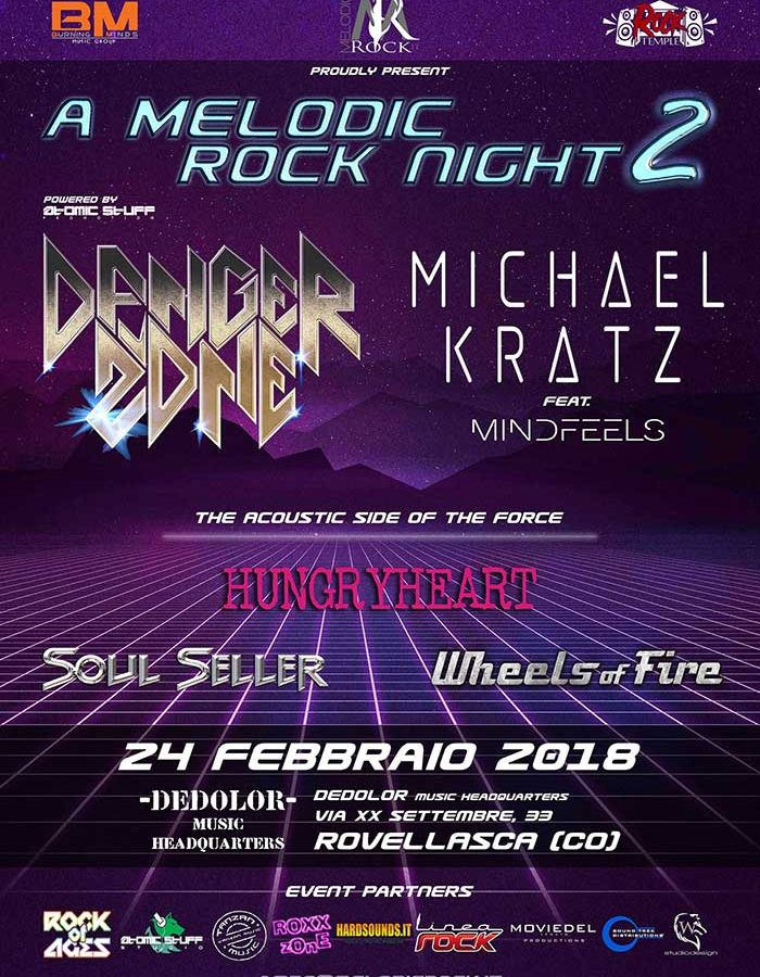A Melodic Rock Night Dedolor Music Headquarter 2018 - Promo