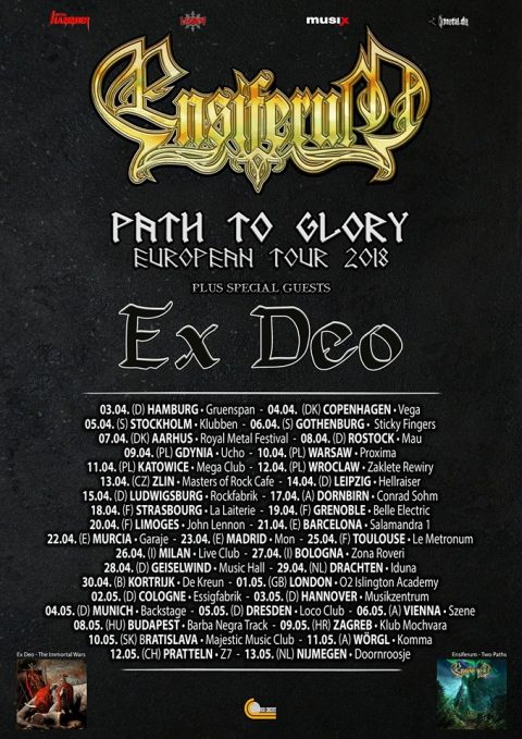 Ensiferum - Ex Deo - Path To Glory - European Tour 2018 - Promo