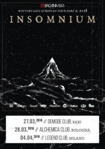 Insomnium - 3 date a marzo e aprile 2018