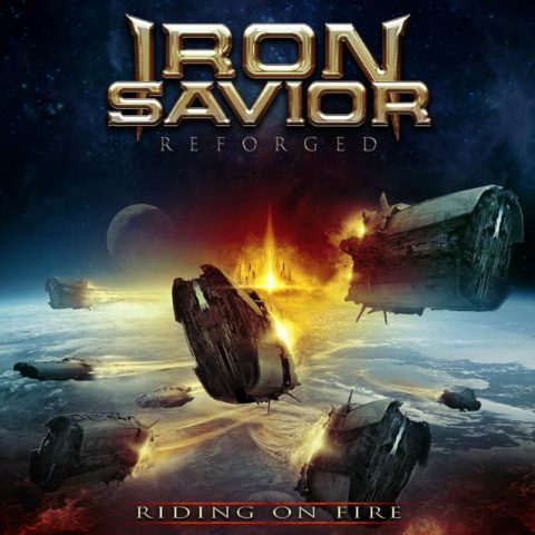 Iron Savior - Reforged Riding On Fire - Album Cover
