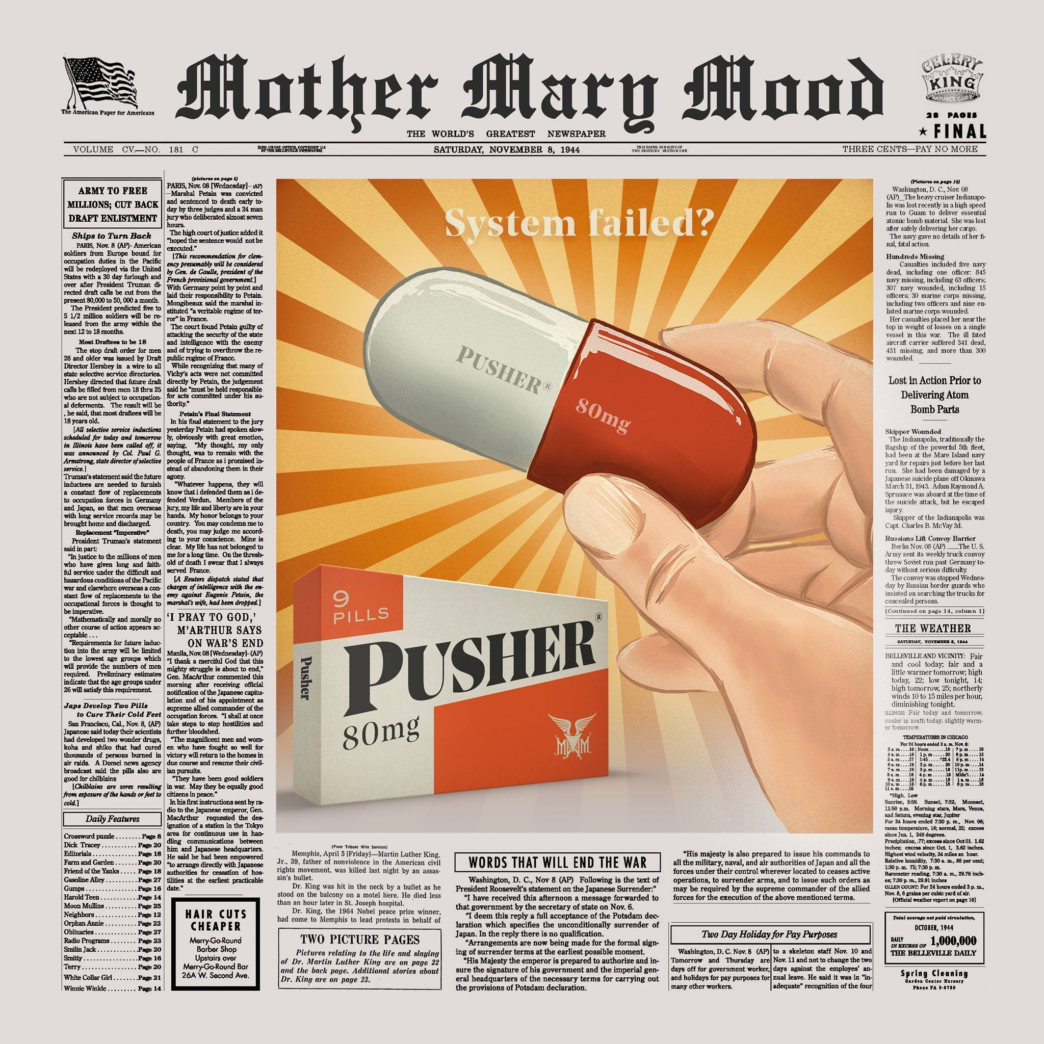 Mother Mary Mood - Punsher - Single Cover