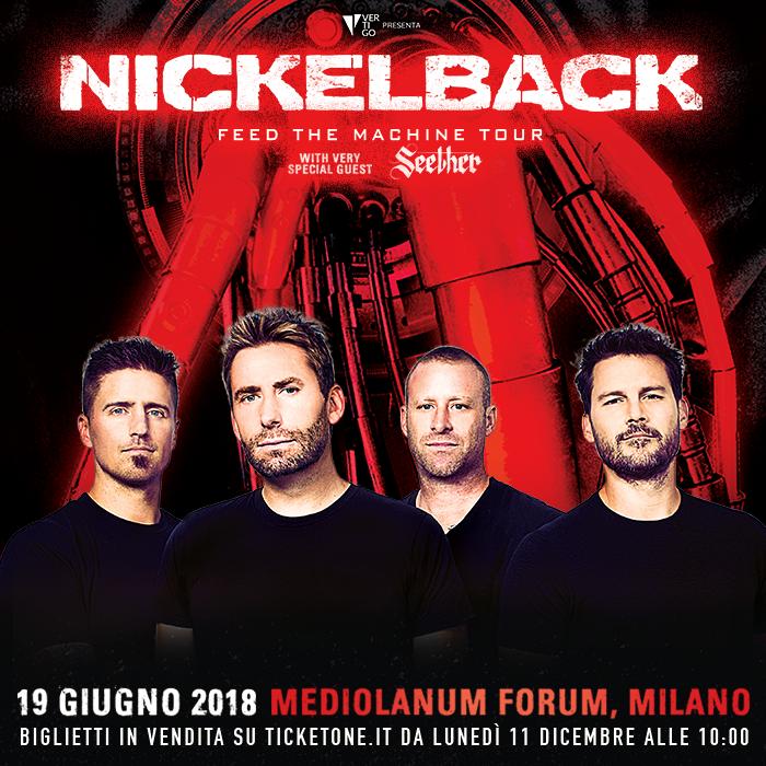 Nickelback - The Feed Machine Tour - Mediolanum Forum 2018 - Promo