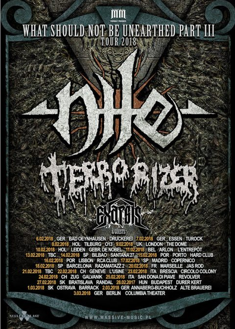 Nile - Terrorizer - What Should Not Be Unearthed Tour Part III - 2018 - Promo